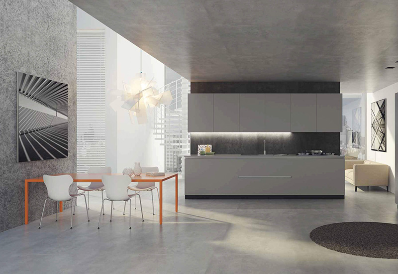 Luxurious Kitchen setup with integrated breakfast table