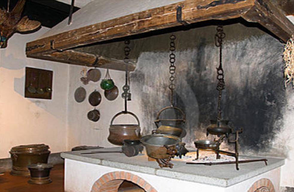 Ancient time master piece installed kitchen