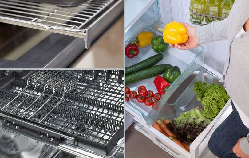 Modern kitchen cabinet with vegetables
