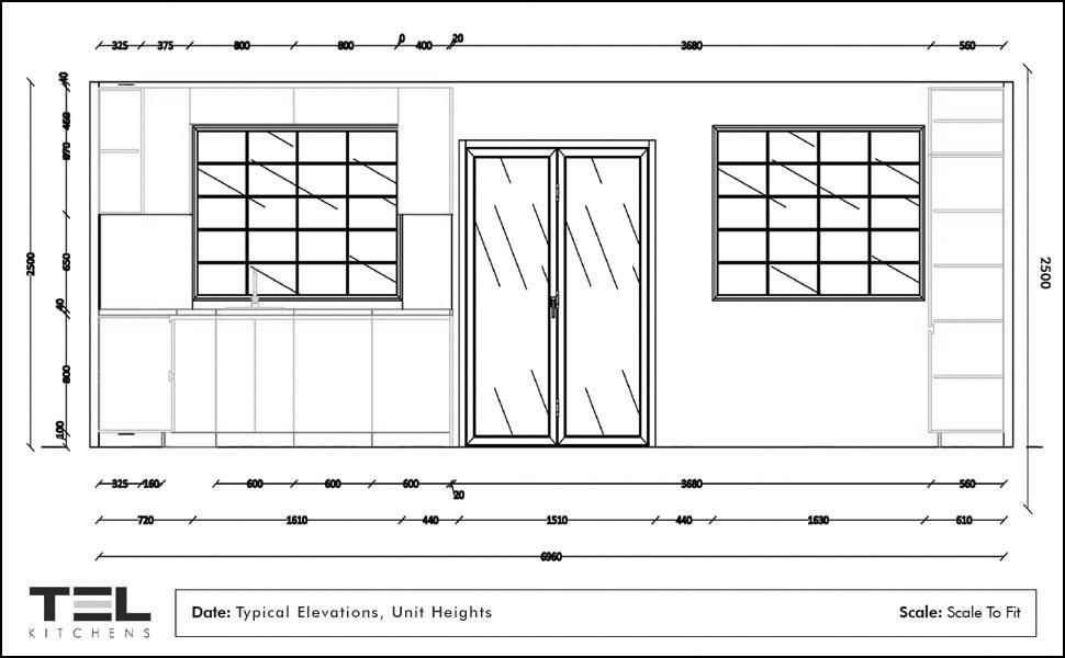 Lively L-shaped kitchen design