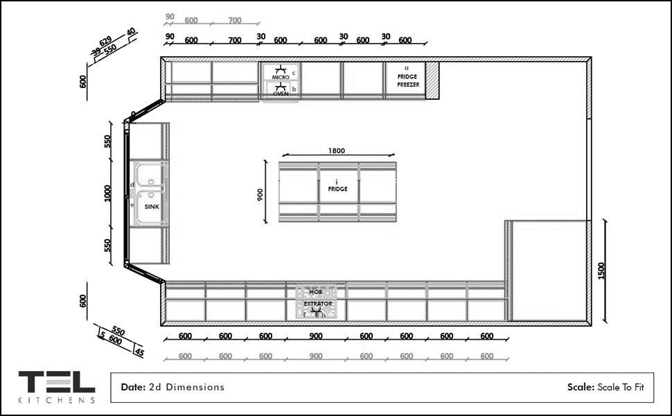 2D Kitchen Planning