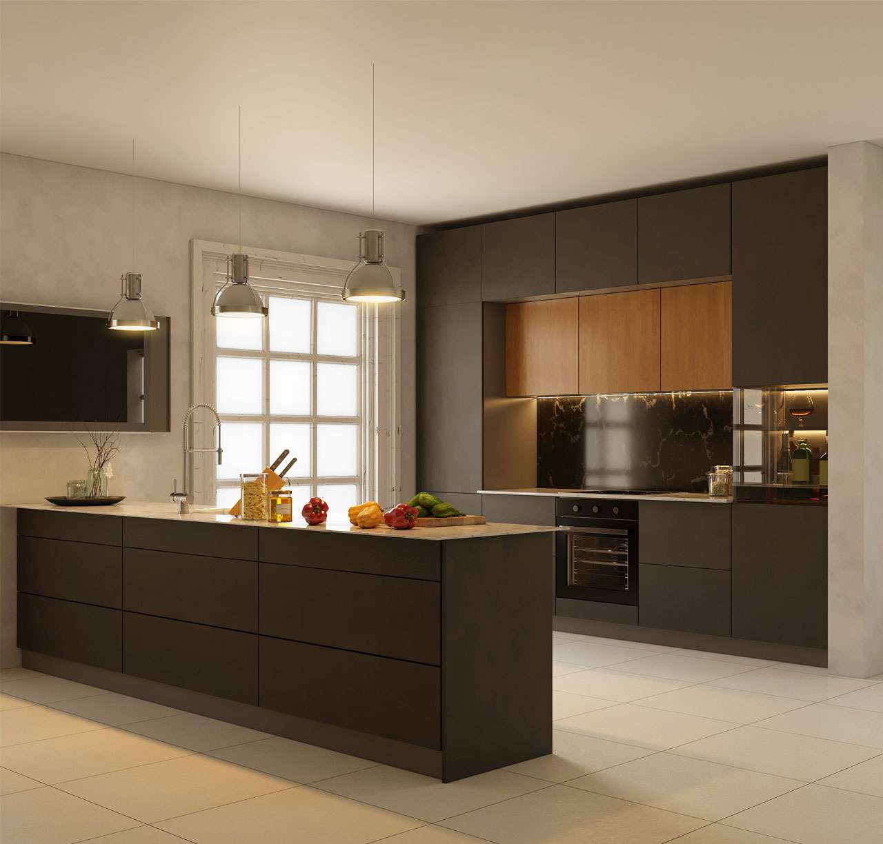 Premium British kitchen design with stylish worktop