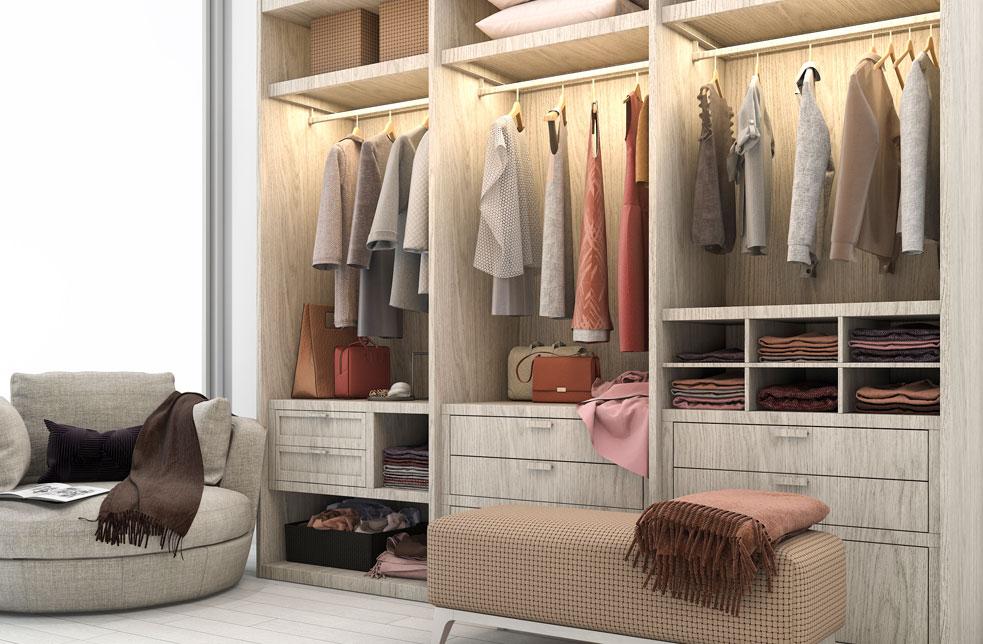 Triple wardrobes