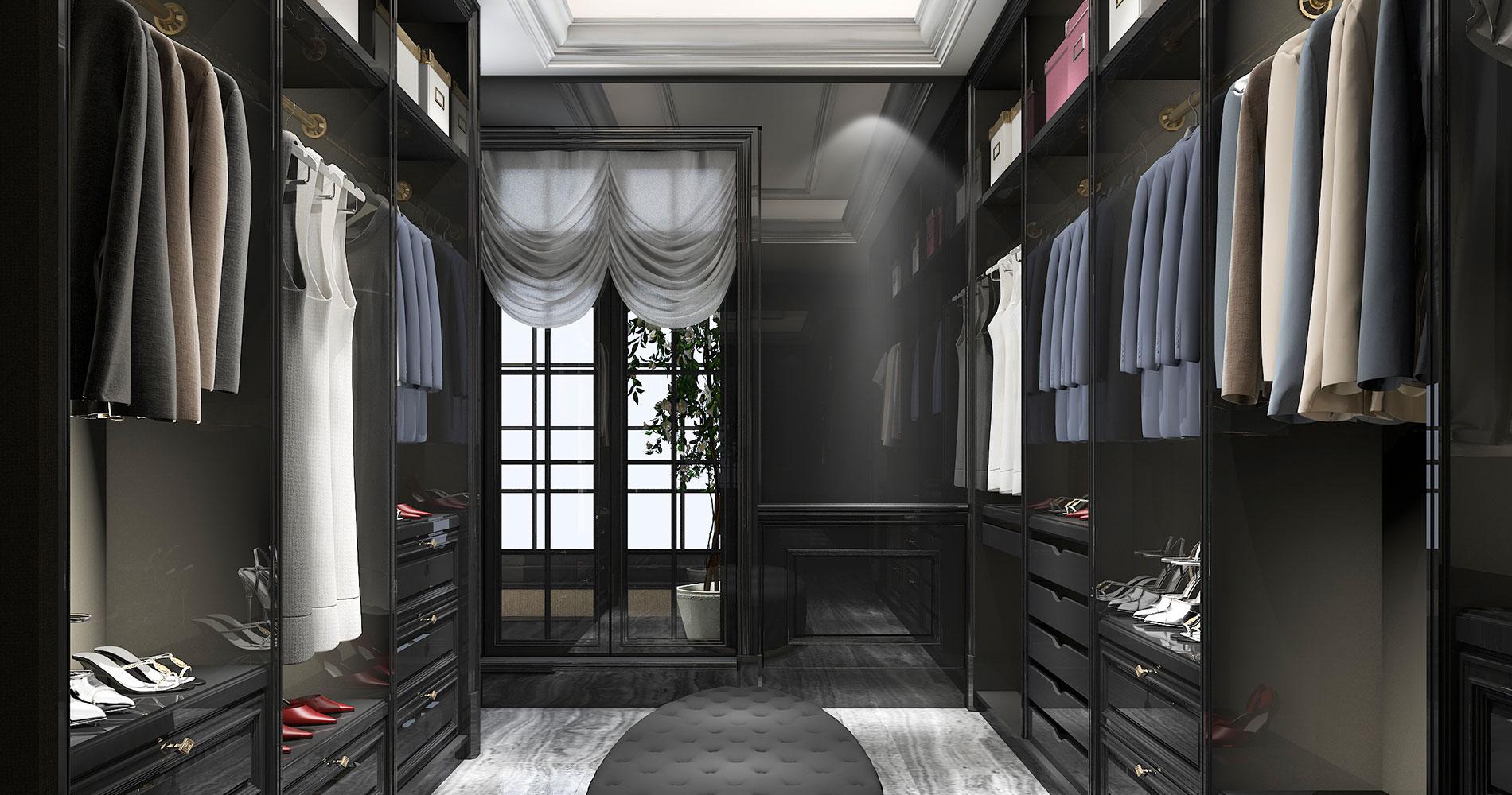 Black Wardrobe Designs Ideas