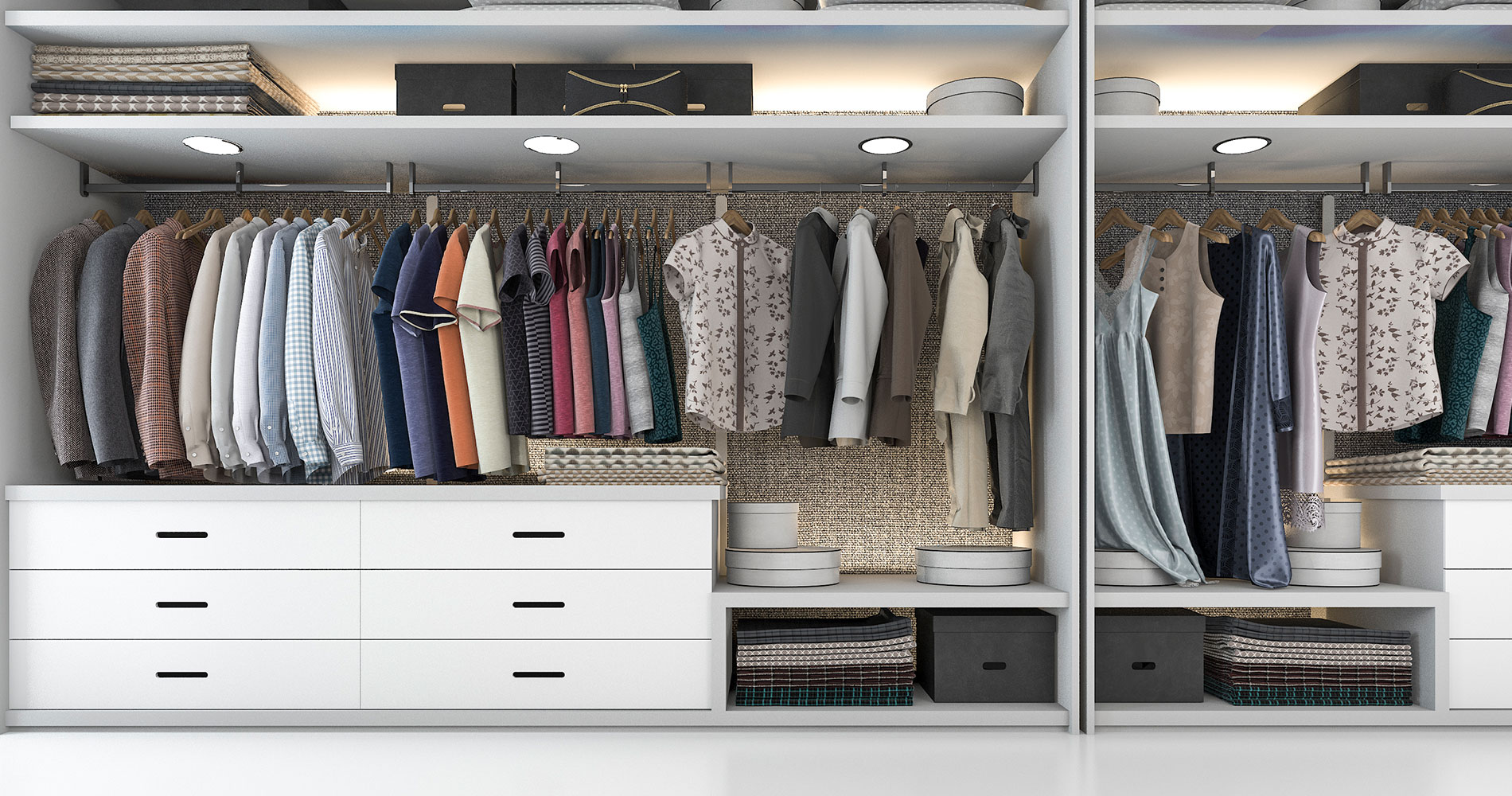 Wardrobes With Drawers' Designs Ideas