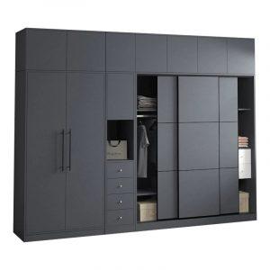 modern gray bespoke wardrobes (1)