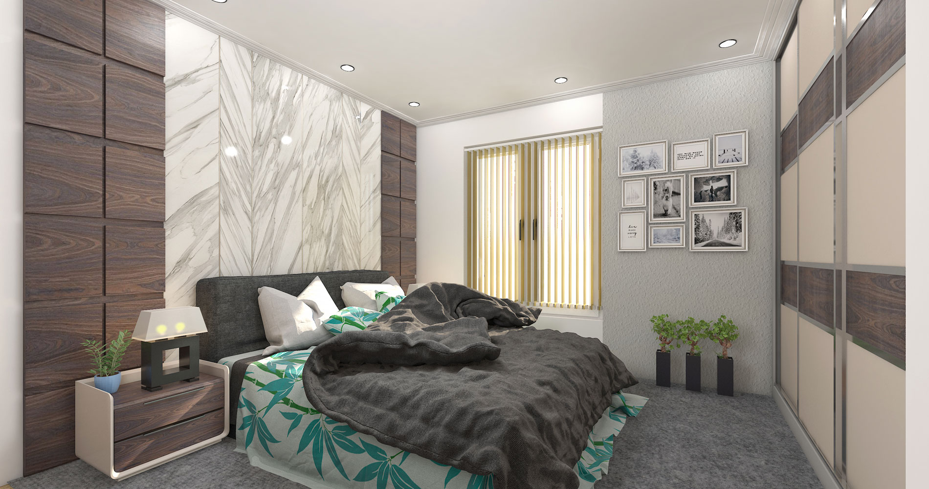 A comprehensive floor to ceiling wall cladding for that contemporary look
