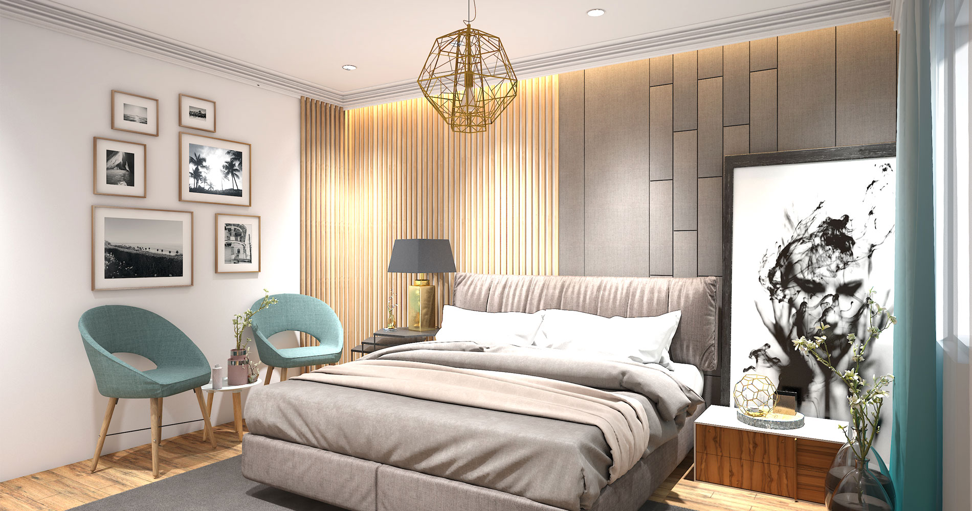 Rustic beauty wall cladding in the room