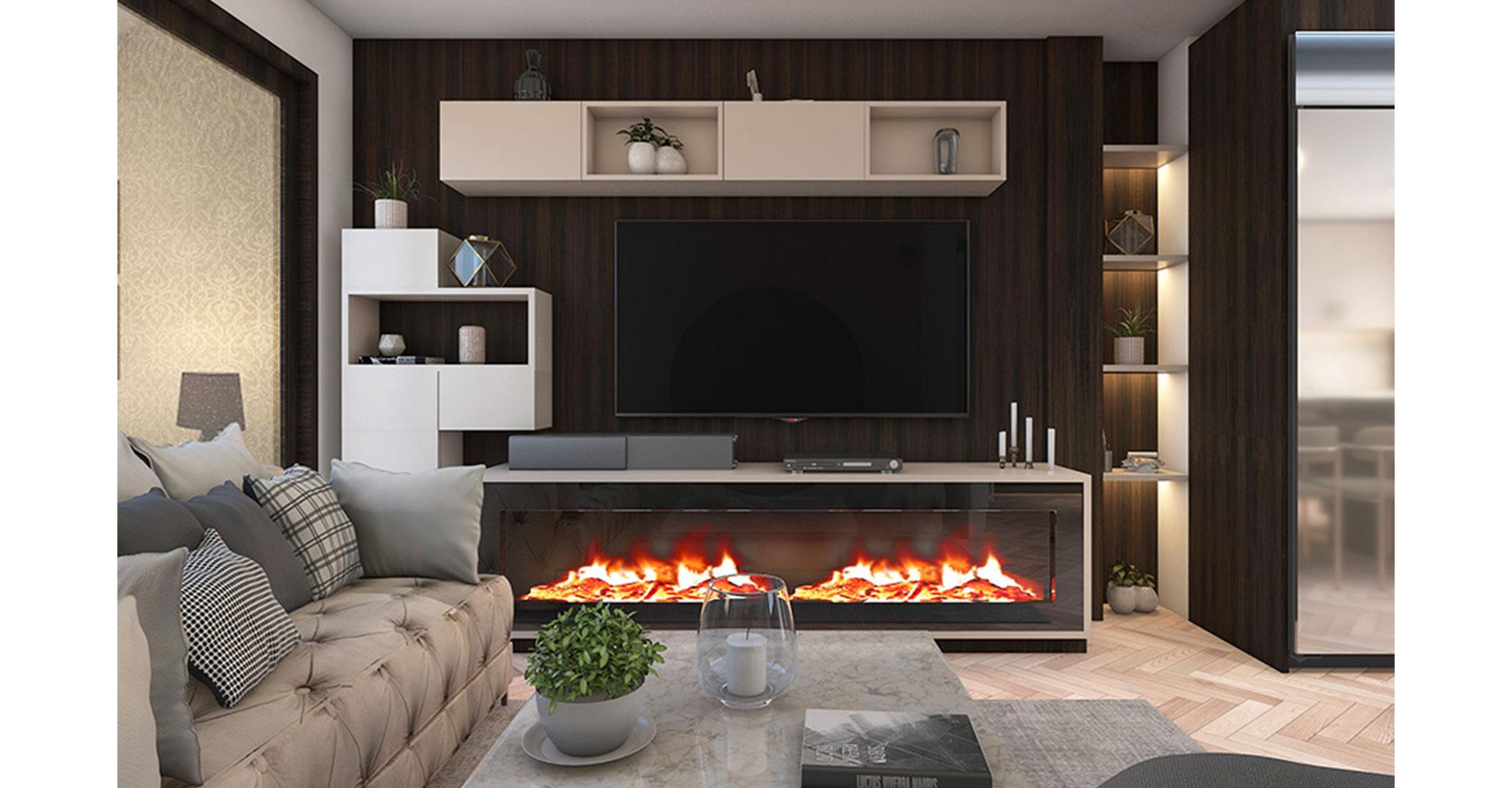 Luxurious and opulent media unit design