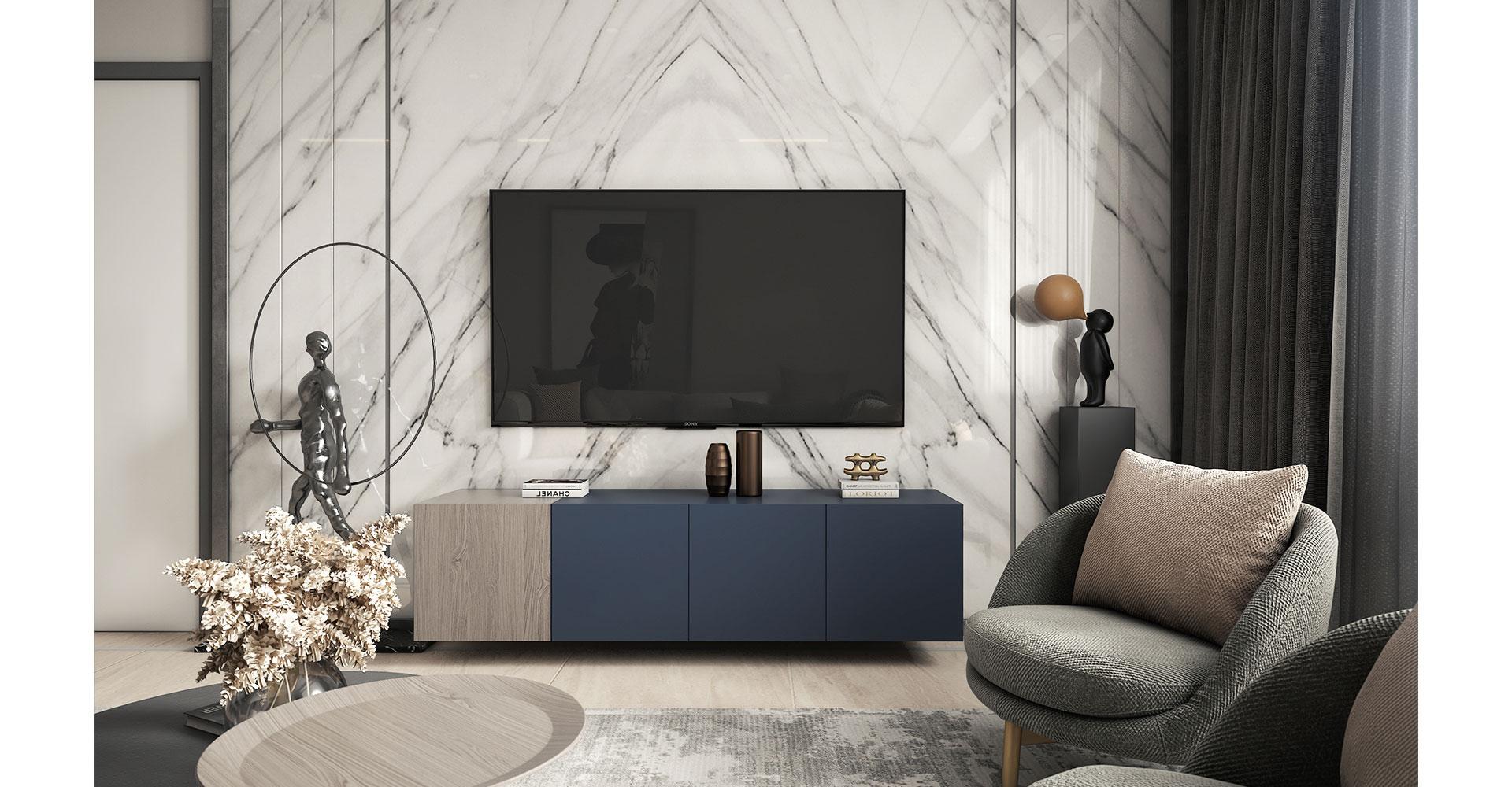 Media unit with elegant marbles