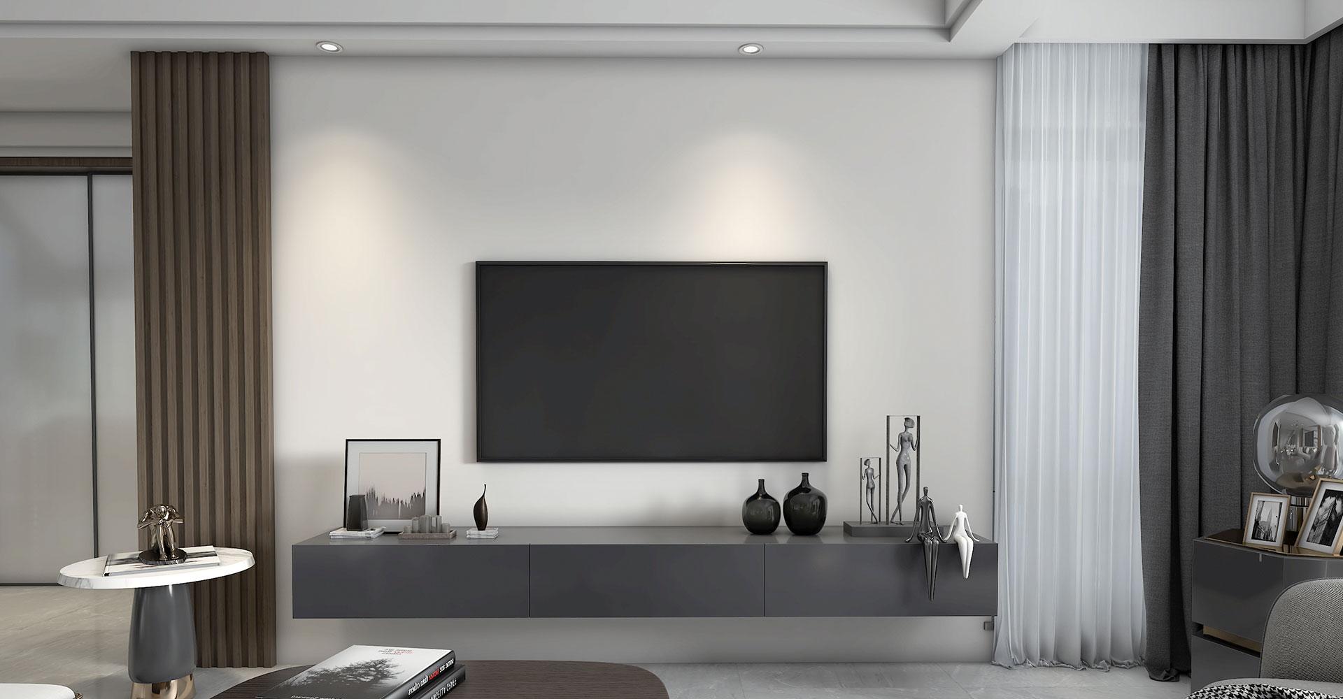 Sleek and minimal media unit