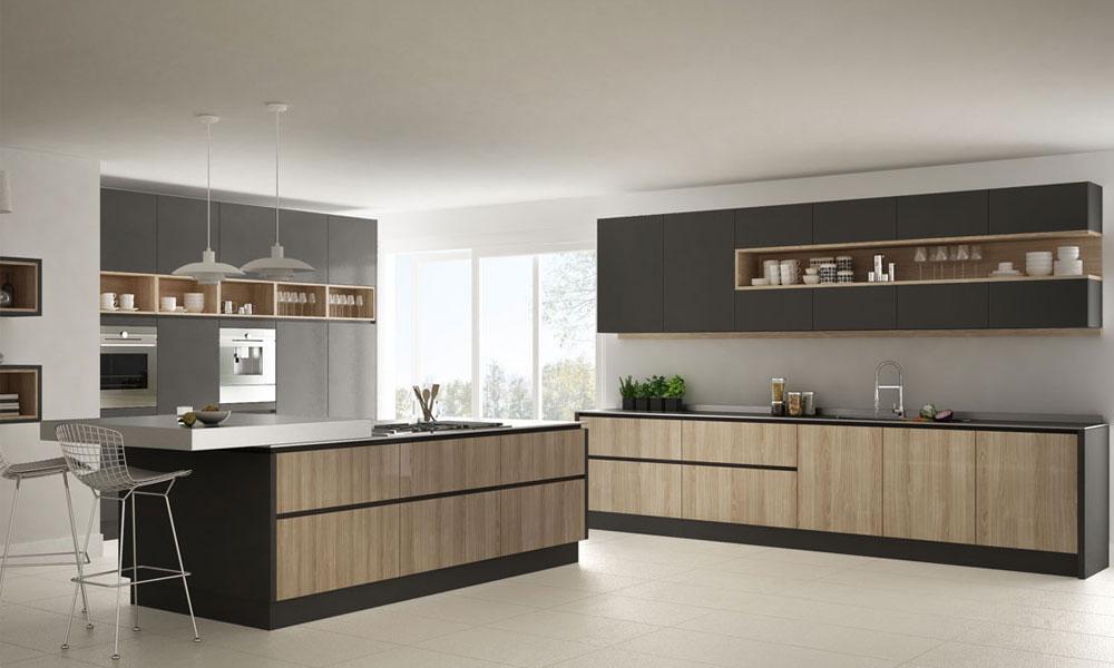 Kitchen design with added rustic taste