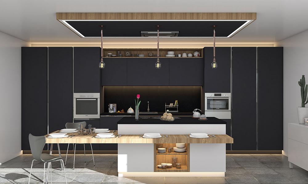 Monochromatic Fusion in premium style kitchen design